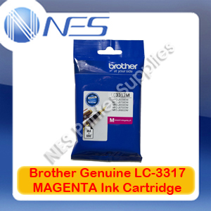 Brother Genuine LC-3317M MAGENTA Ink Cartridge for MFC-J5330DW/MFC-J5730DW/MFC-J6530DW/MFC-J6730DW/MFC-J6930DW (550 Pages)